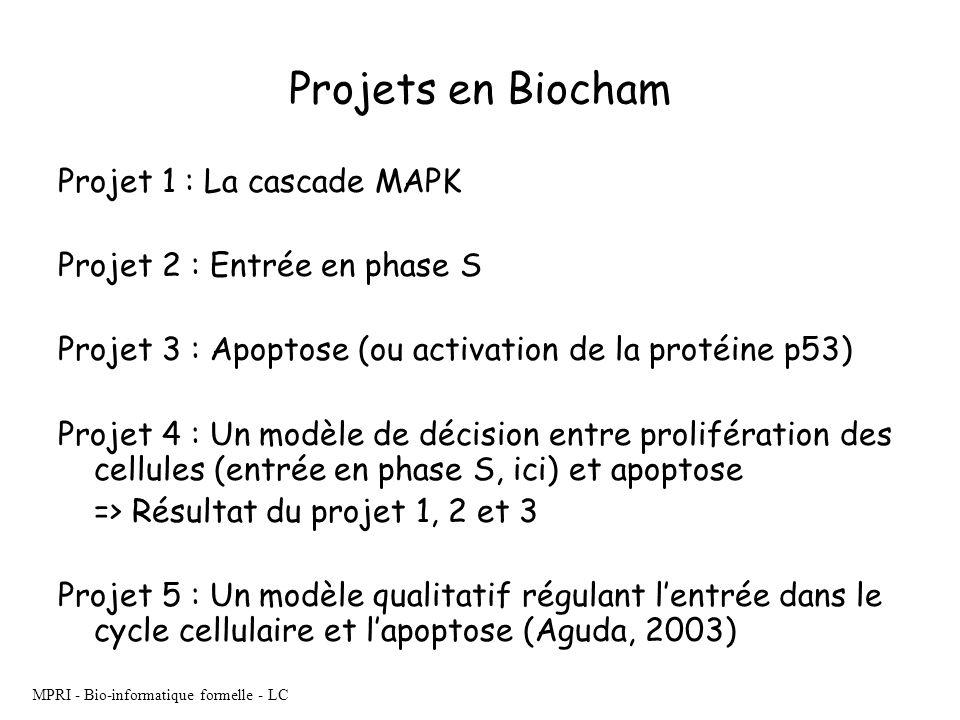 MPRI - Bio-informatique formelle - LC