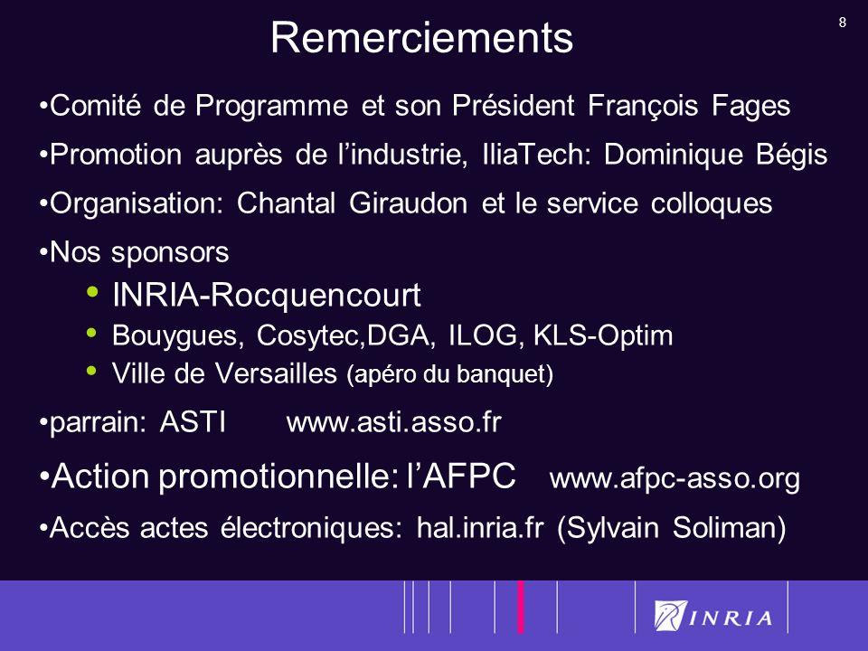 Remerciements Action promotionnelle: l'AFPC www.afpc-asso.org