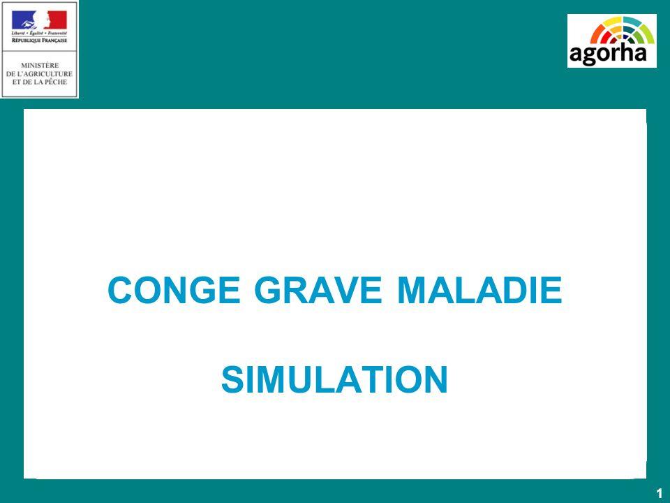 CONGE GRAVE MALADIE SIMULATION