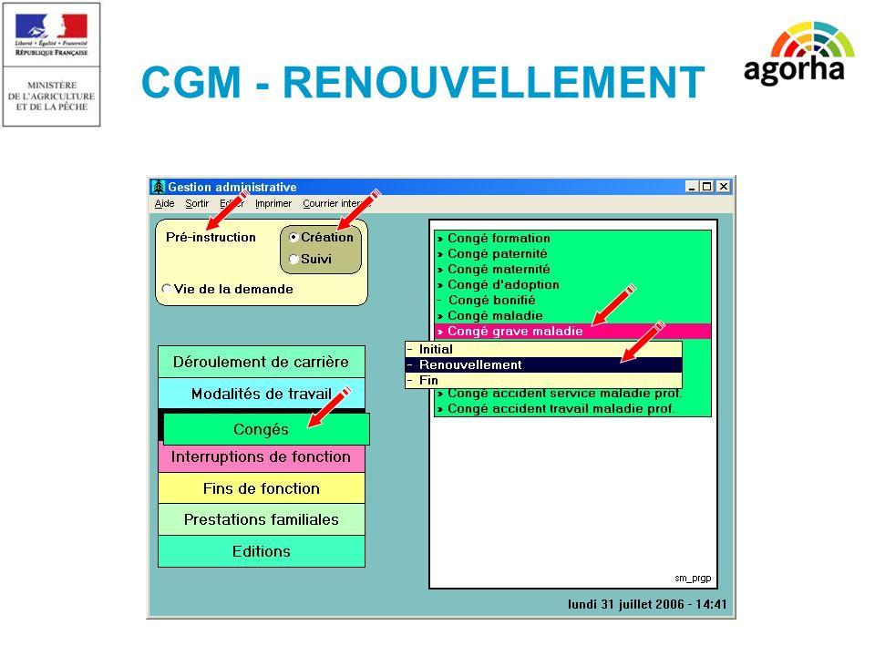 CGM - RENOUVELLEMENT