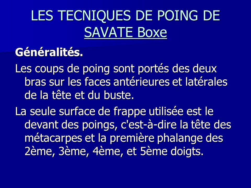 LES TECNIQUES DE POING DE SAVATE Boxe