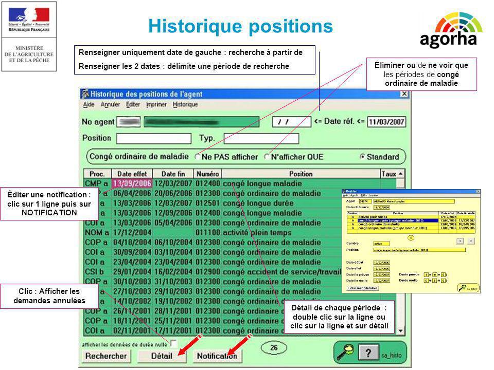 Historique positions Renseigner uniquement date de gauche : recherche à partir de. Renseigner les 2 dates : délimite une période de recherche.