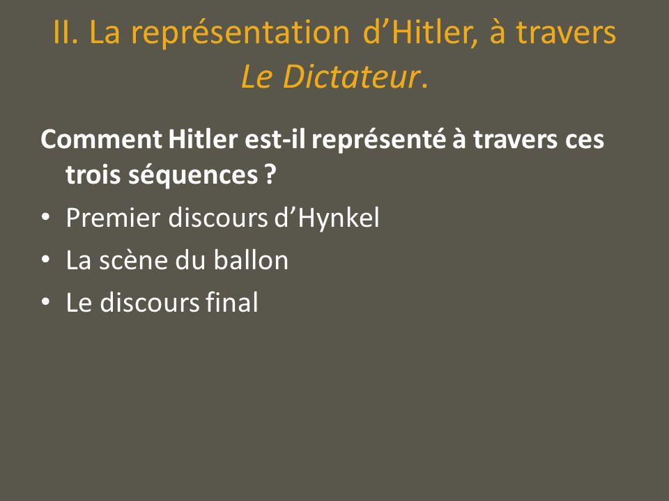 II. La représentation d'Hitler, à travers Le Dictateur.