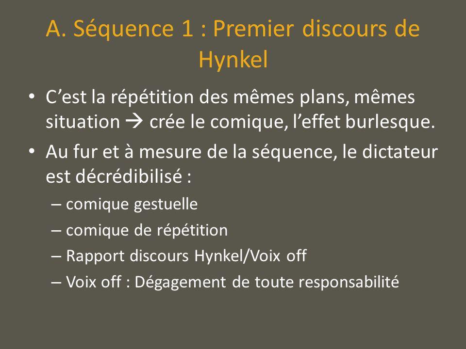 A. Séquence 1 : Premier discours de Hynkel
