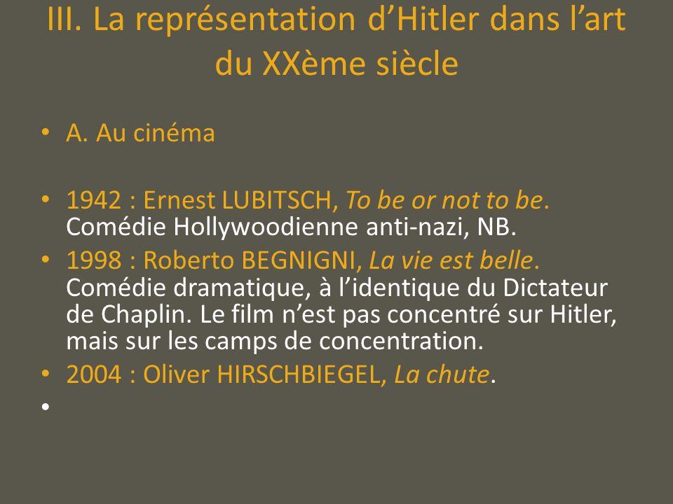 III. La représentation d'Hitler dans l'art du XXème siècle