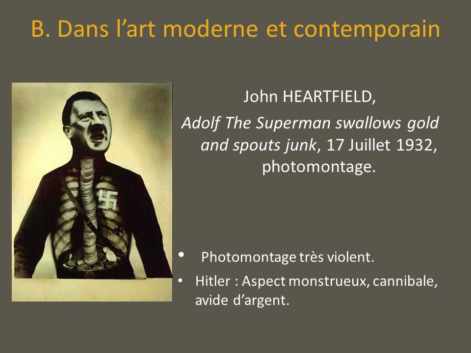 B. Dans l'art moderne et contemporain