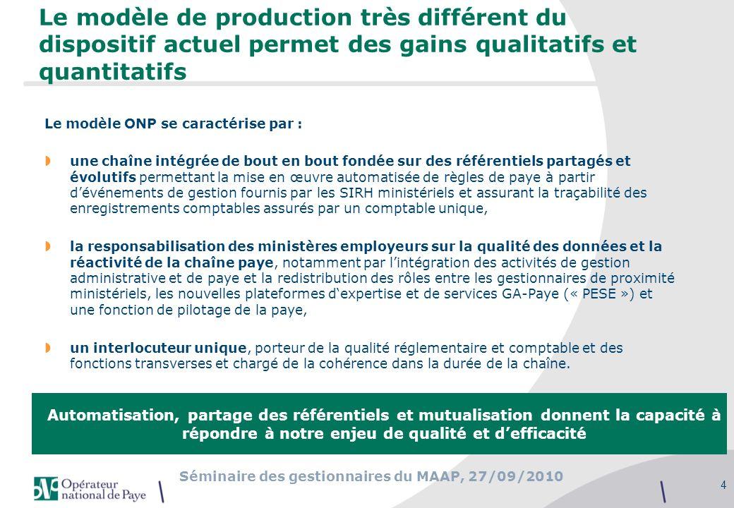 Le modèle de production très différent du dispositif actuel permet des gains qualitatifs et quantitatifs