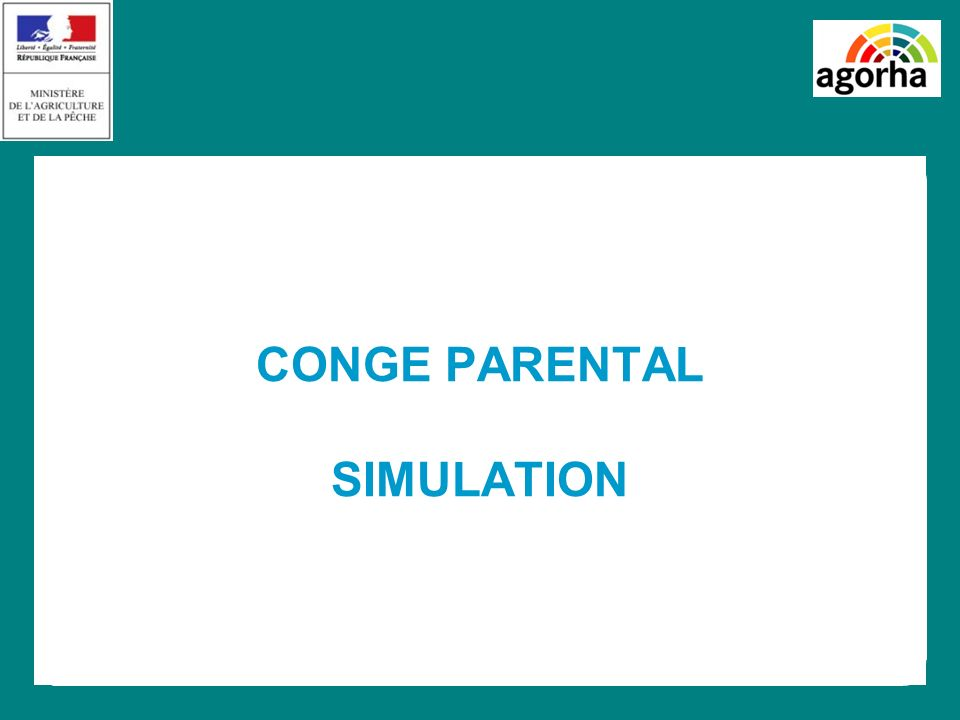 CONGE PARENTAL SIMULATION