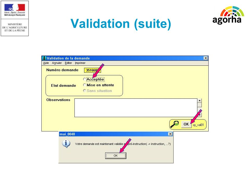 Validation (suite)
