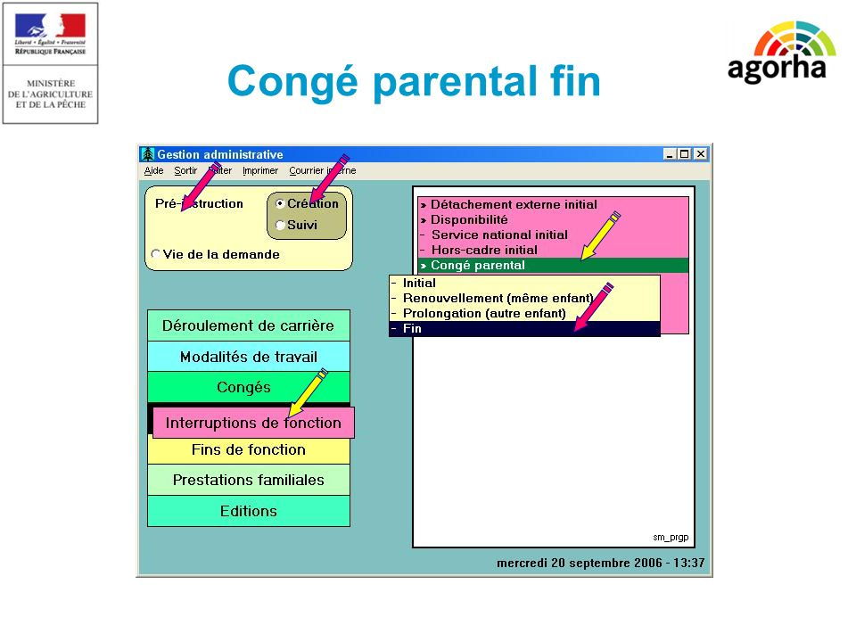 Congé parental fin