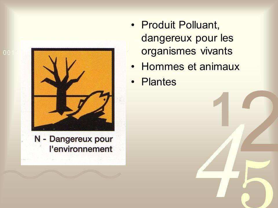 Produit Polluant, dangereux pour les organismes vivants