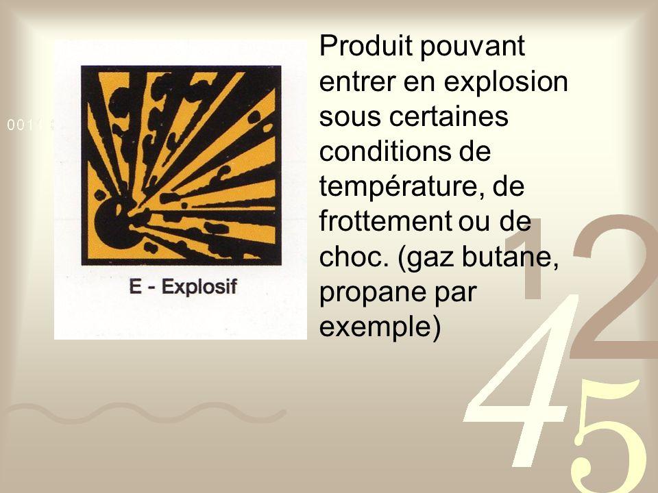 Produit pouvant entrer en explosion sous certaines conditions de température, de frottement ou de choc.