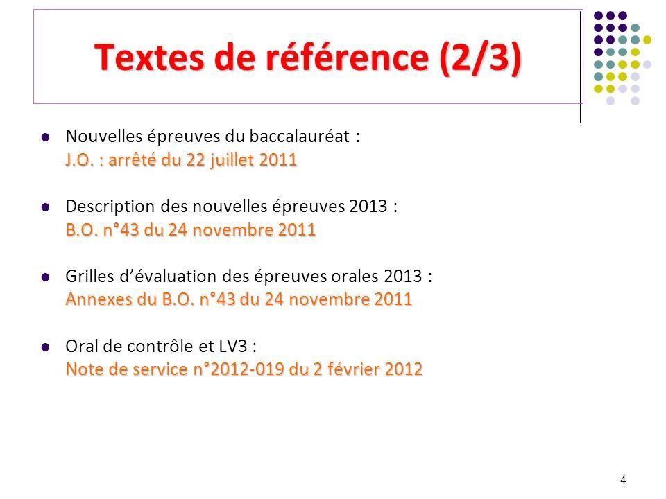 Textes de référence (2/3)