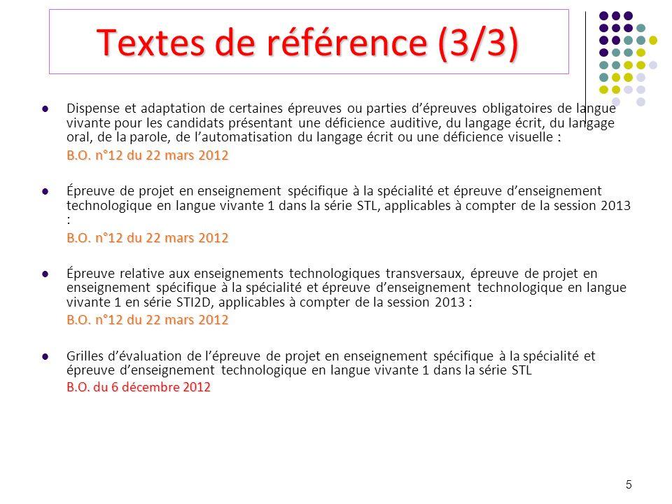 Textes de référence (3/3)
