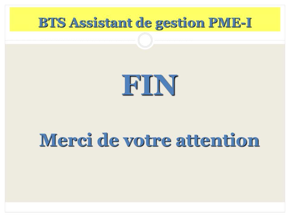 BTS Assistant de gestion PME-I