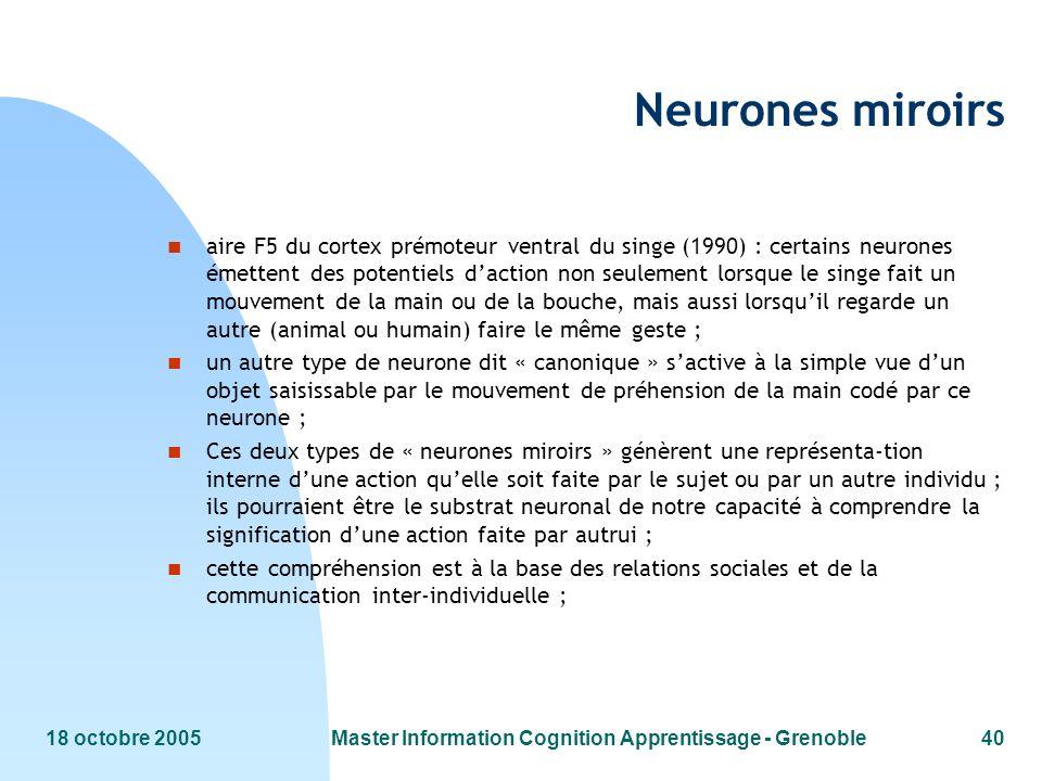 Master Information Cognition Apprentissage - Grenoble