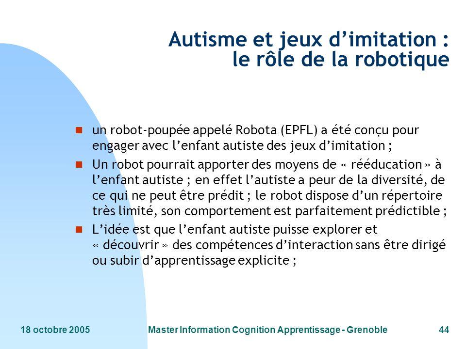 Autisme et jeux d'imitation : le rôle de la robotique