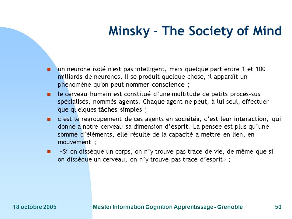 Minsky - The Society of Mind