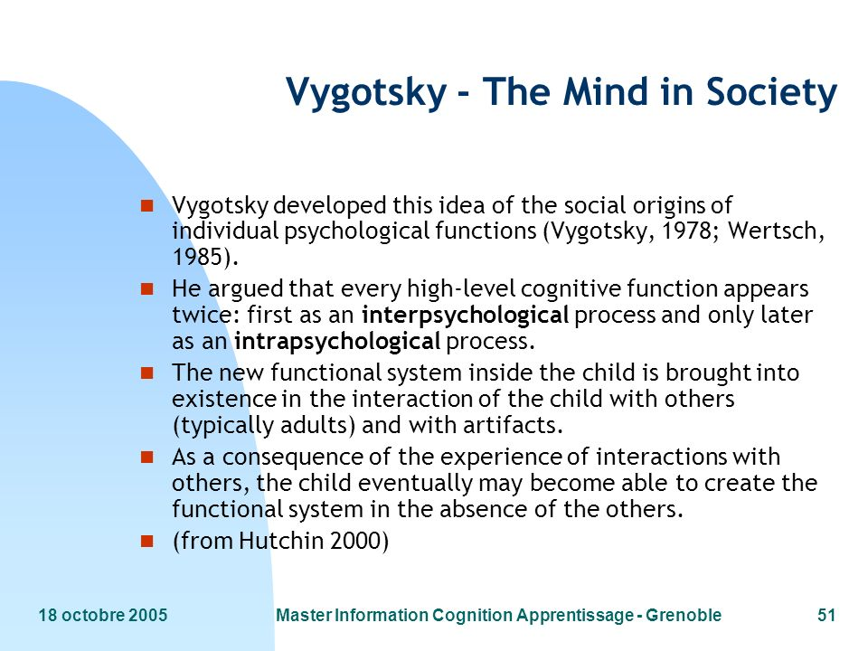 Vygotsky - The Mind in Society