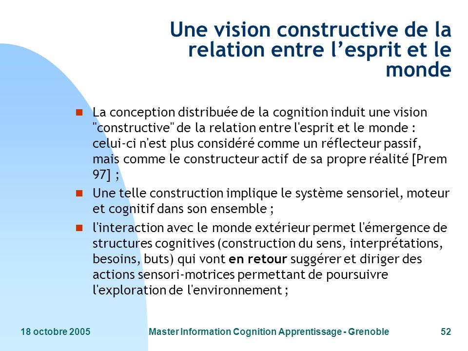 Une vision constructive de la relation entre l'esprit et le monde