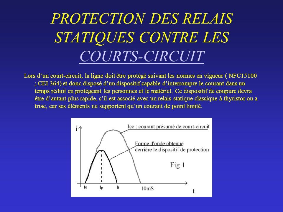 PROTECTION DES RELAIS STATIQUES CONTRE LES COURTS-CIRCUIT