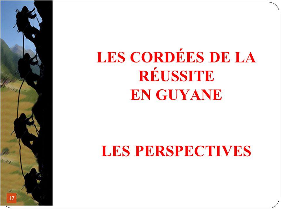 LES CORDÉES DE LA RÉUSSITE EN GUYANE LES PERSPECTIVES