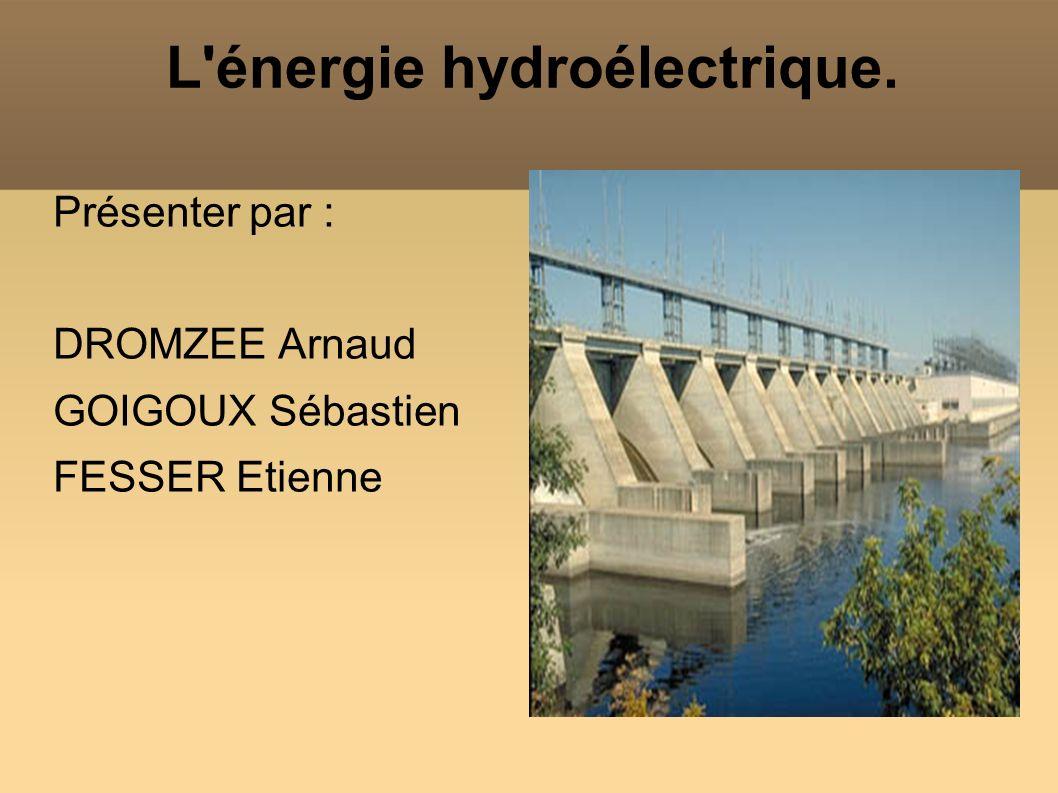 L énergie hydroélectrique.