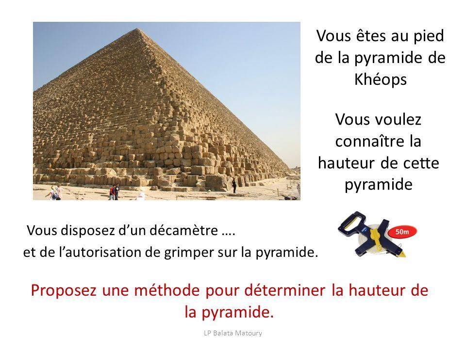 Vous êtes au pied de la pyramide de Khéops