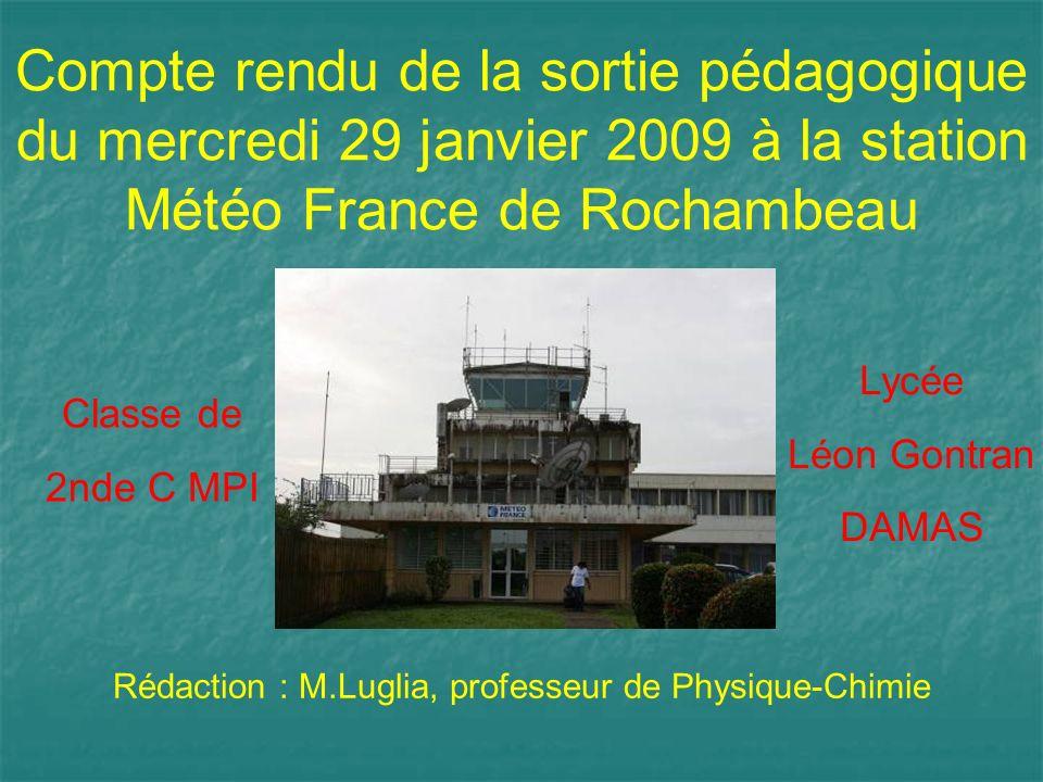 Rédaction : M.Luglia, professeur de Physique-Chimie