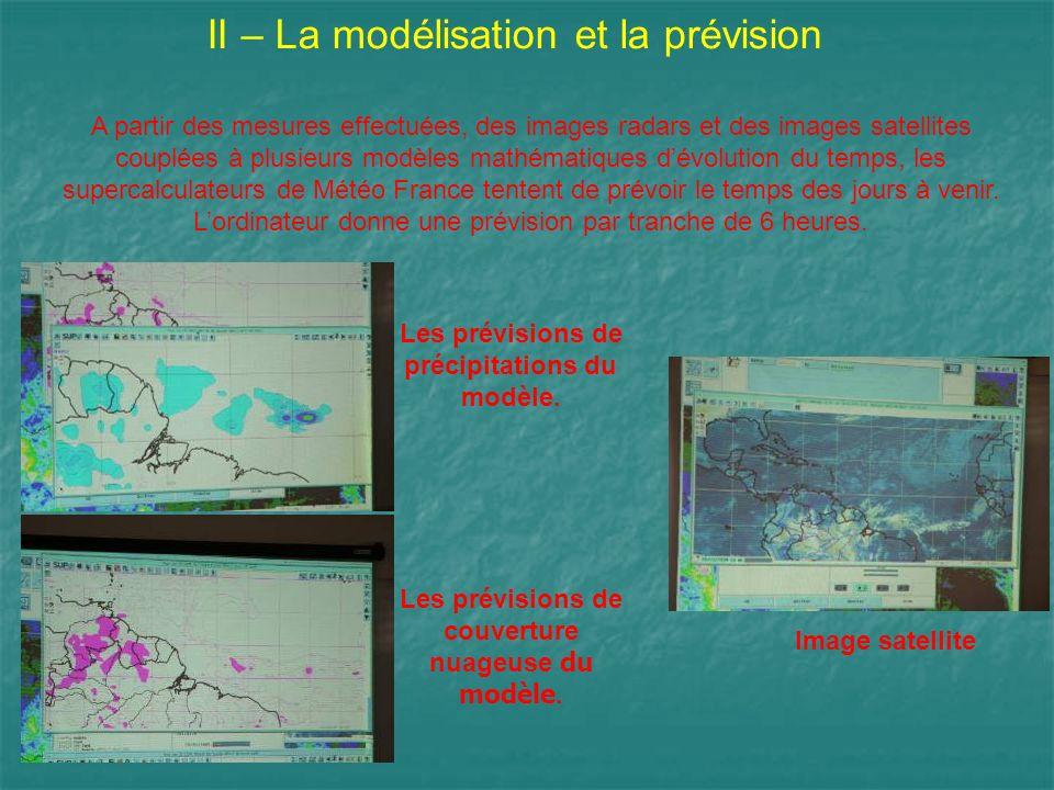 II – La modélisation et la prévision