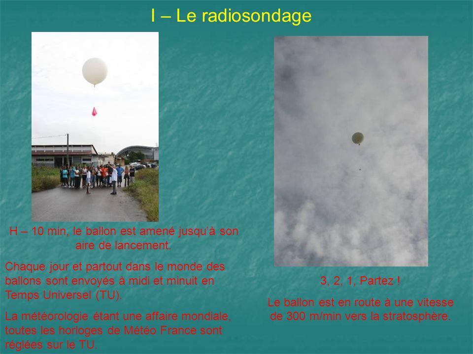 H – 10 min, le ballon est amené jusqu'à son aire de lancement.