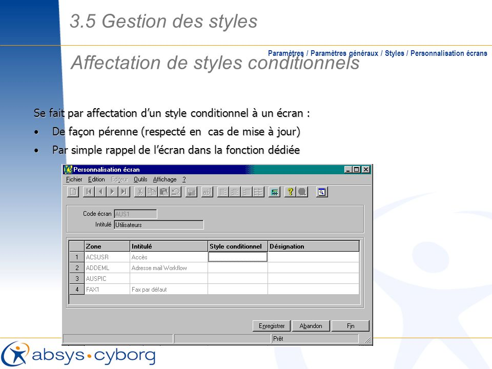 Affectation de styles conditionnels