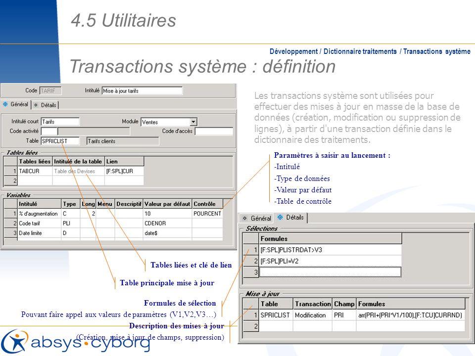 Transactions système : définition