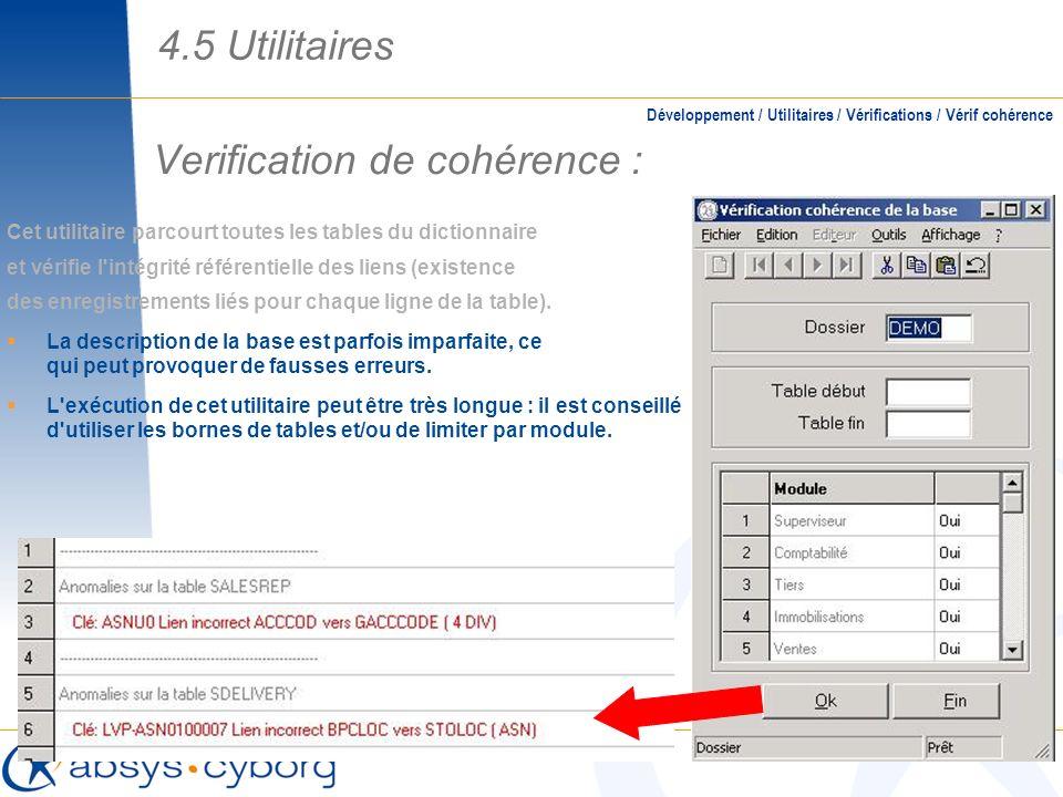 Verification de cohérence :