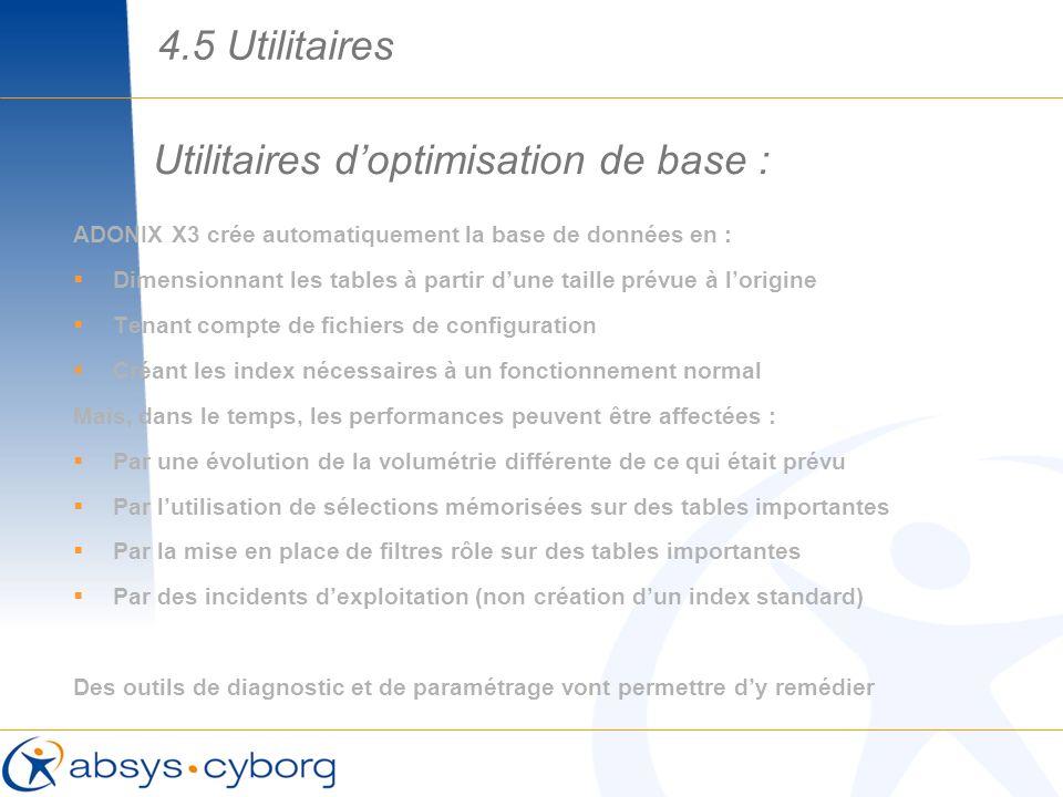 Utilitaires d'optimisation de base :