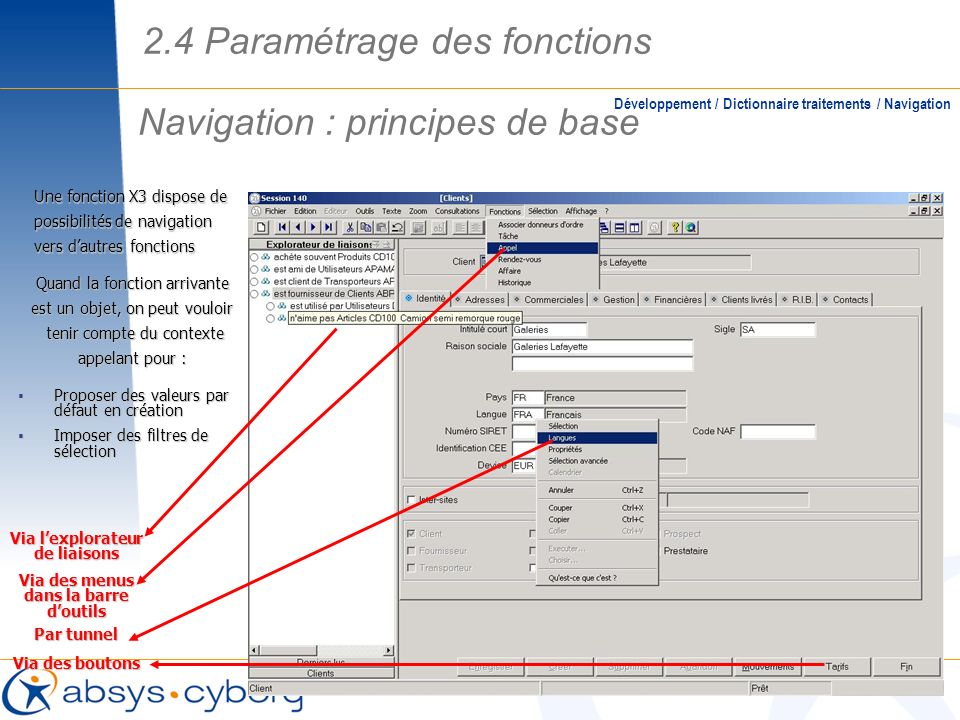 Navigation : principes de base