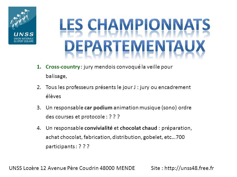 LES CHAMPIONNATS DEPARTEMENTAUX