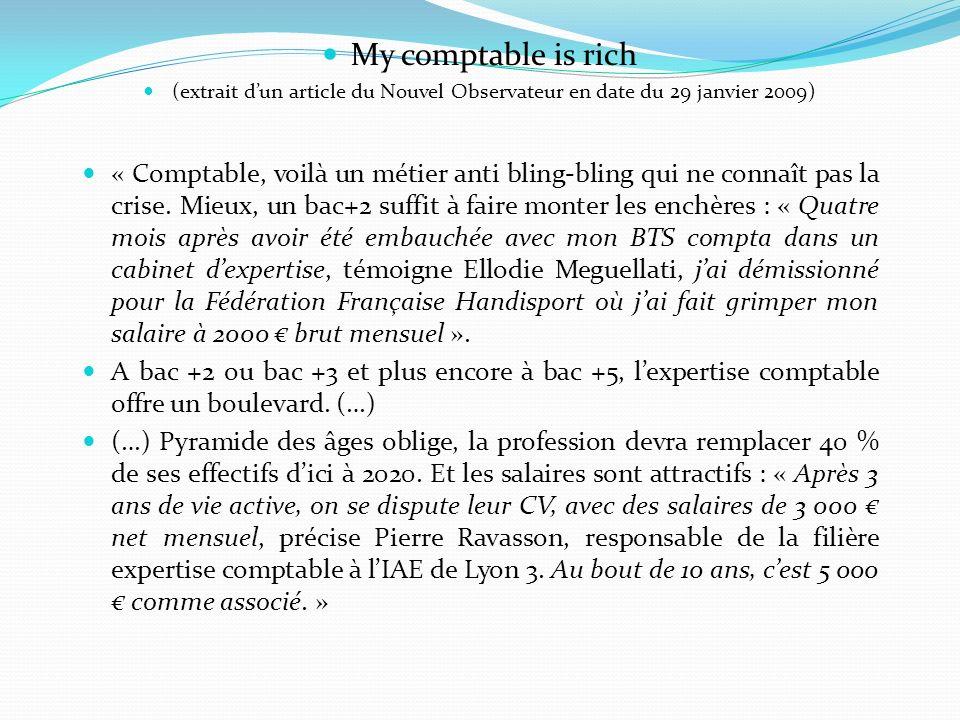 My comptable is rich (extrait d'un article du Nouvel Observateur en date du 29 janvier 2009)