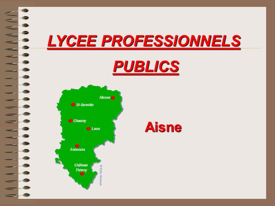 LYCEE PROFESSIONNELS PUBLICS