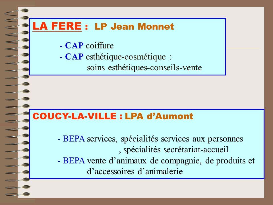LA FERE : LP Jean Monnet - CAP coiffure