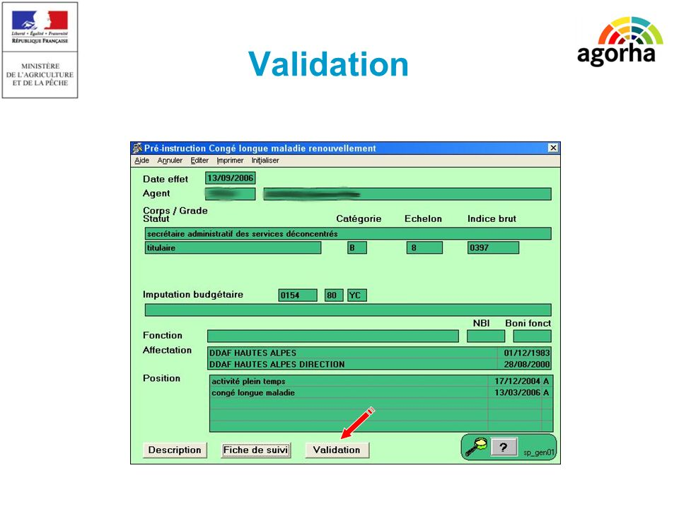 Validation SG/SRH/MISIRH