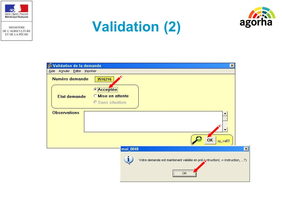 Validation (2) SG/SRH/MISIRH