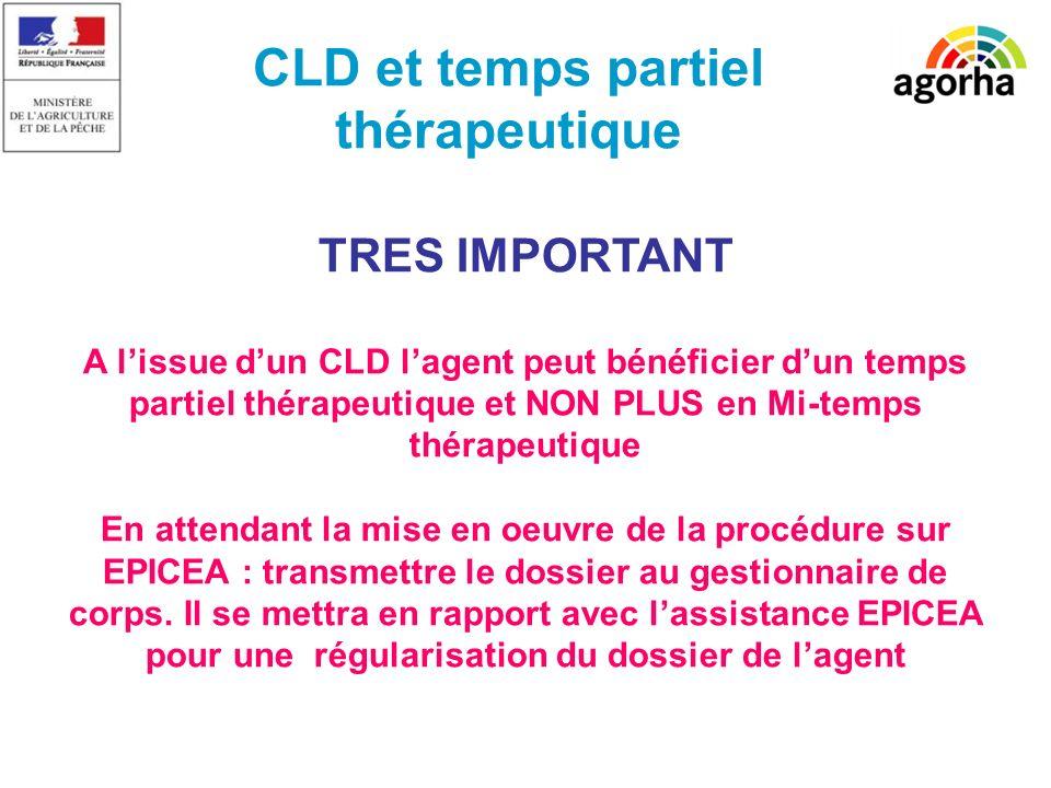 CLD et temps partiel thérapeutique