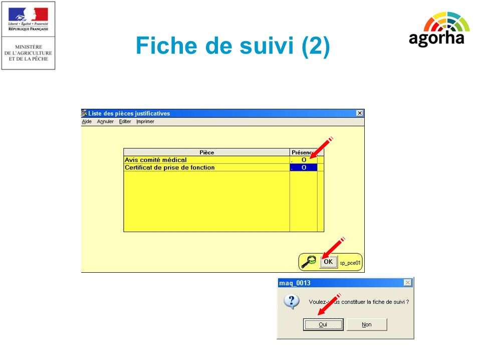 Fiche de suivi (2) SG/SRH/MISIRH