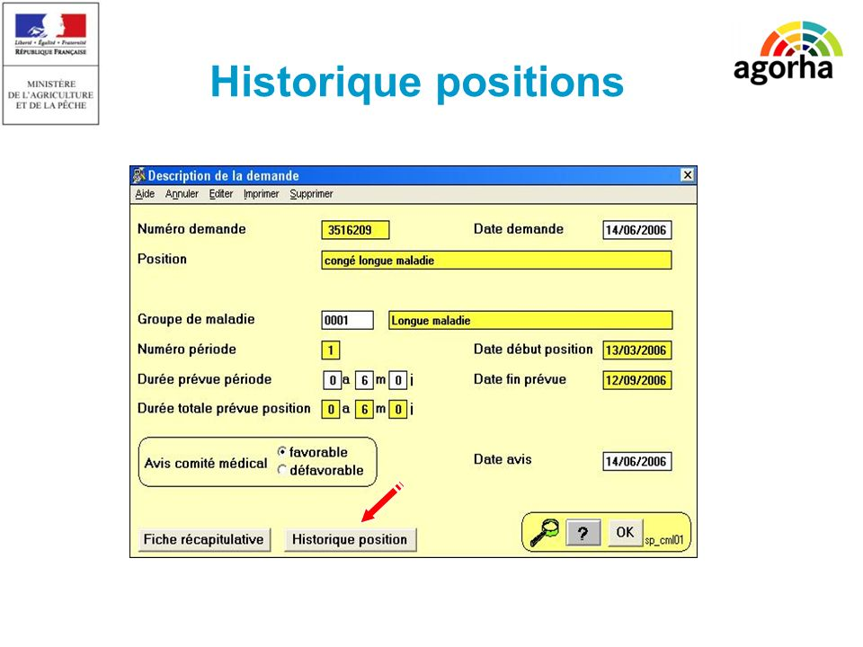 Historique positions SG/SRH/MISIRH
