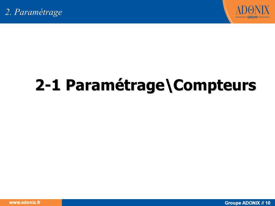 2-1 Paramétrage\Compteurs