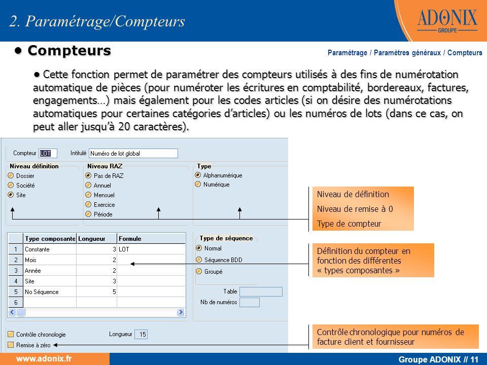 2. Paramétrage/Compteurs