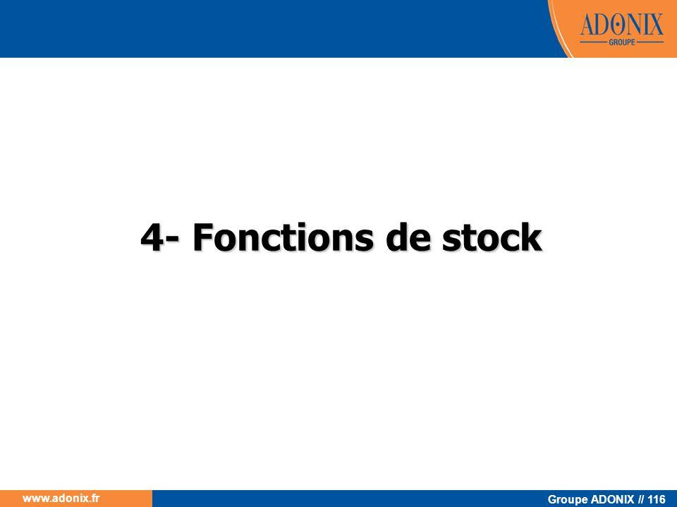 4- Fonctions de stock