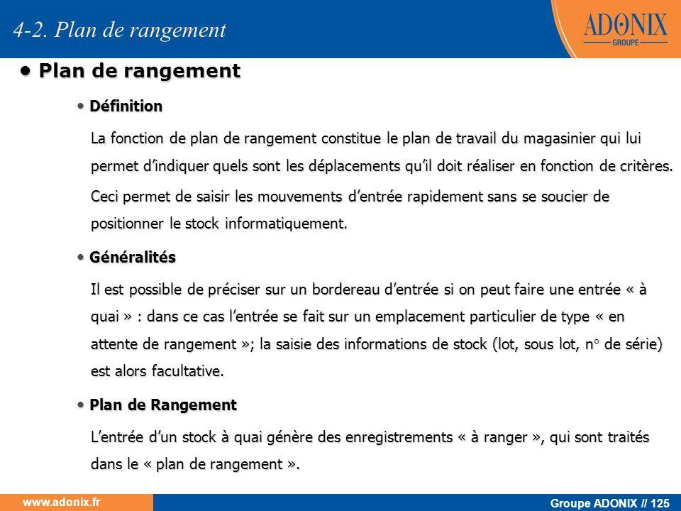 4-2. Plan de rangement • Plan de rangement • Définition • Généralités