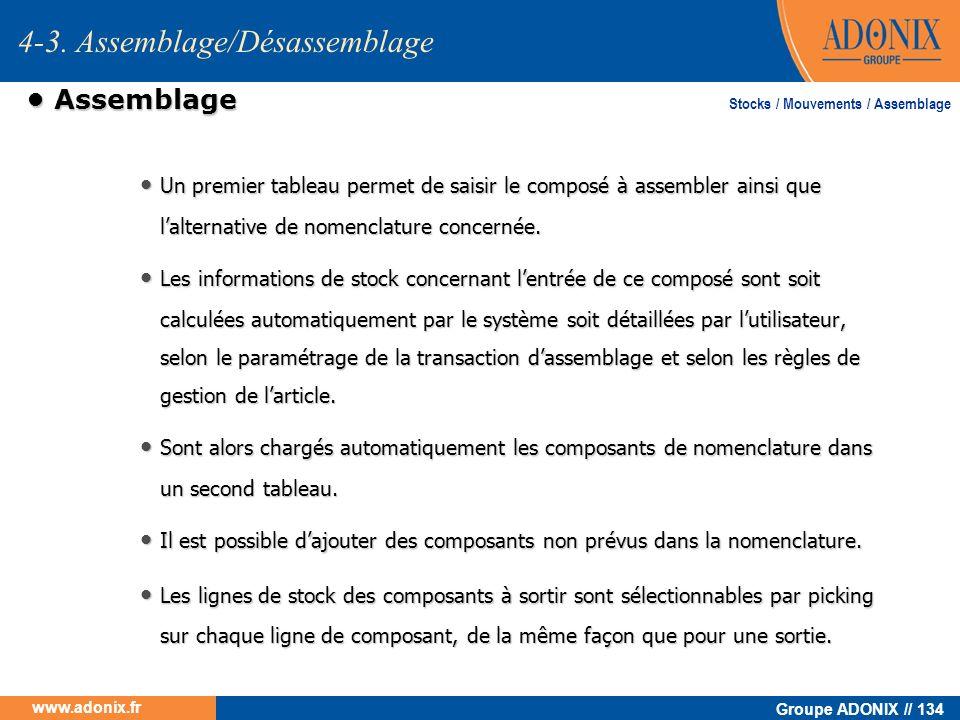 4-3. Assemblage/Désassemblage